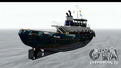 GTA 5 Buckingham Tug Boat v1 IVF для GTA San Andreas вид слева