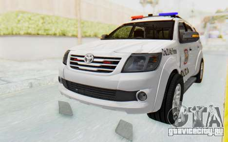Toyota Fortuner 4WD 2015 Paraguay Police для GTA San Andreas
