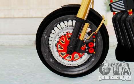 Kawasaki Z1000 Moghe Cafe Racer для GTA San Andreas вид сзади