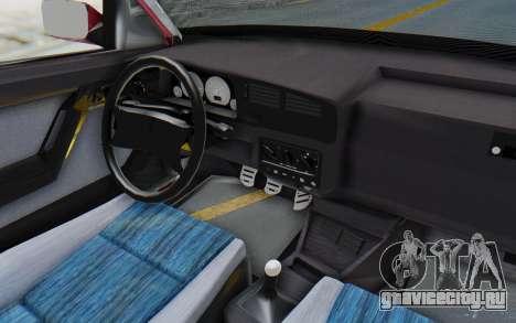 Volkswagen Golf 3 1994 для GTA San Andreas вид изнутри