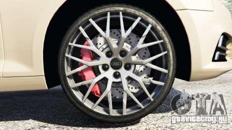 Audi A4 2017 для GTA 5 вид справа