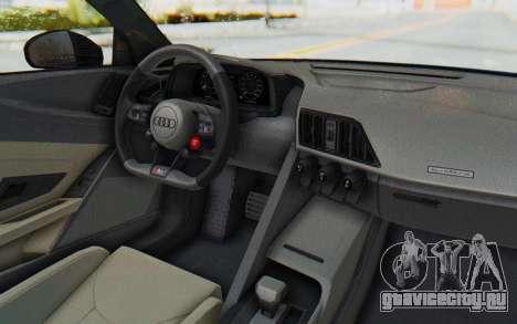 Audi R8 V10 2017 v2.0 для GTA San Andreas вид справа