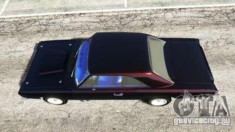 Dodge Dart 1968 Hemi для GTA 5 вид сзади