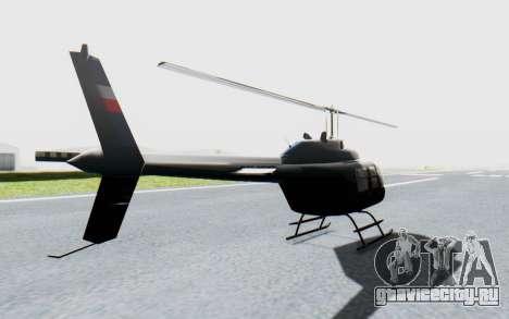 Bell 206B-III Jet Ranger Policja для GTA San Andreas вид сзади слева
