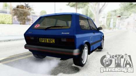 Zastava Yugo Koral UK для GTA San Andreas вид сзади слева