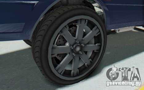 GTA 5 Willard Faction Custom Donk v1 для GTA San Andreas вид сзади
