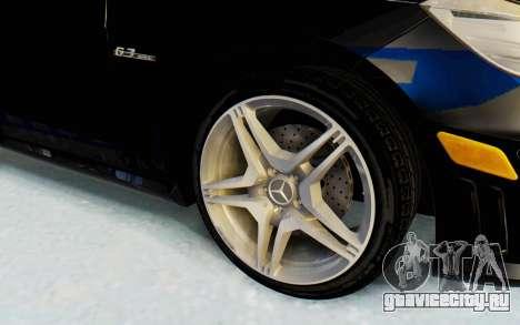 Mercedes-Benz E63 German Police Blue для GTA San Andreas вид сзади