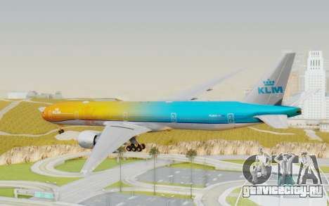 Boeing 777-300ER KLM - Royal Dutch Airlines v1 для GTA San Andreas вид справа