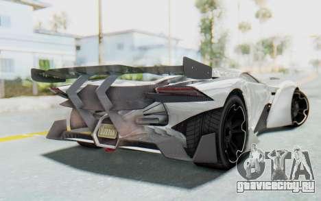 GTA 5 Grotti Prototipo v2 для GTA San Andreas вид слева