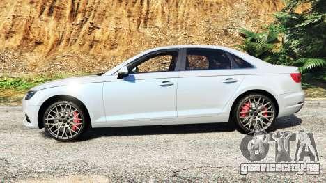 Audi A4 2017 v1.1 для GTA 5 вид слева