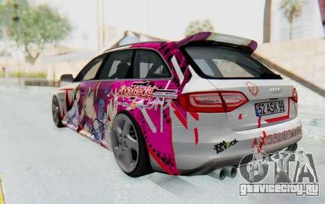 Audi S4 Avant Yurippe Angel Beats Itasha для GTA San Andreas вид слева