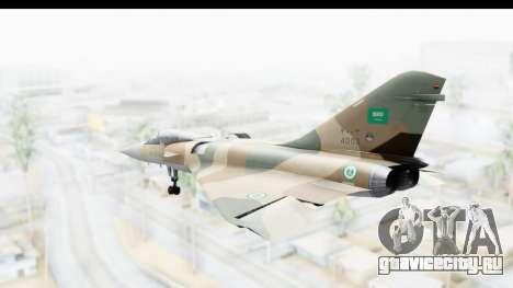 Dassault Mirage 4000 Royal Saudi Air Force для GTA San Andreas вид слева
