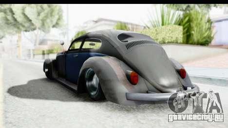 Volkswagen Beetle 1963 Hotrod для GTA San Andreas вид справа