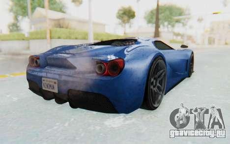 GTA 5 Vapid FMJ для GTA San Andreas вид сзади слева