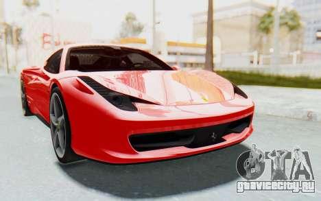 Ferrari 458 Italia F142 2010 для GTA San Andreas