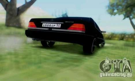 Mercedes-Benz MB W140 1999 для GTA San Andreas вид изнутри