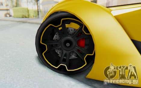 GTA 5 Grotti Prototipo v2 IVF для GTA San Andreas вид изнутри