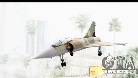Dassault Mirage 4000 Royal Saudi Air Force для GTA San Andreas вид сзади слева
