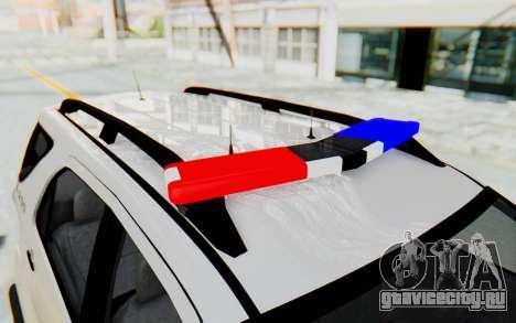 Toyota Fortuner 4WD 2015 Paraguay Police для GTA San Andreas вид сбоку