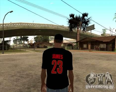 King James T-Shirt для GTA San Andreas второй скриншот