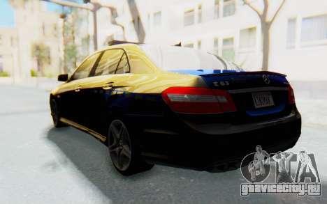 Mercedes-Benz E63 German Police Blue для GTA San Andreas вид слева