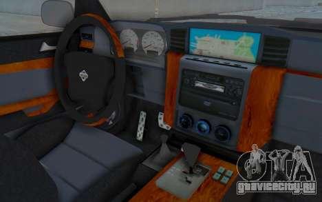 Nissan Patrol Y61 Off Road для GTA San Andreas вид изнутри