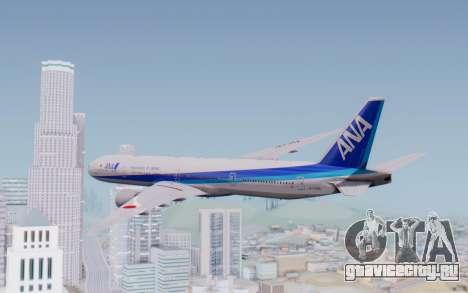 Boeing 777-300ER ZK-OKO - Smaug Livery для GTA San Andreas вид слева