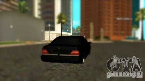 Mercedes-Benz S600 W140 AMG для GTA San Andreas вид слева
