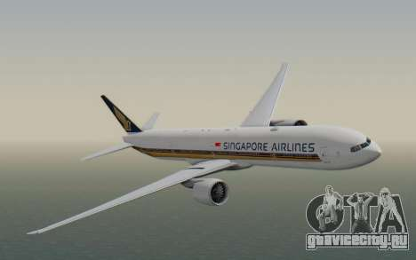 Boeing 777-300ER Singapore Airlines v1 для GTA San Andreas вид сзади слева