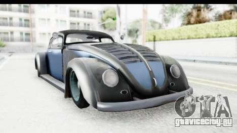 Volkswagen Beetle 1963 Hotrod для GTA San Andreas вид сзади слева