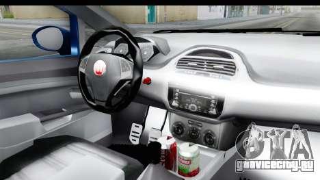 Fiat Linea 2014 Wheels для GTA San Andreas вид изнутри