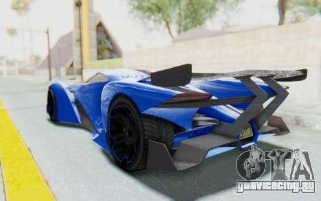 GTA 5 Grotti Prototipo v1 для GTA San Andreas вид слева