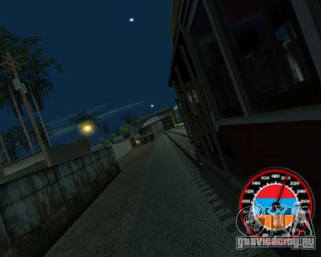 Спидометр в стиле Армянского флага для GTA San Andreas шестой скриншот