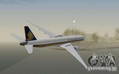 Boeing 777-300ER Singapore Airlines v1 для GTA San Andreas вид справа