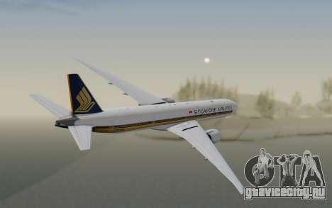 Boeing 777-300ER Singapore Airlines v1 для GTA San Andreas вид справа