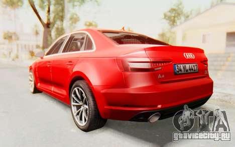 Audi A4 2017 IVF для GTA San Andreas вид слева