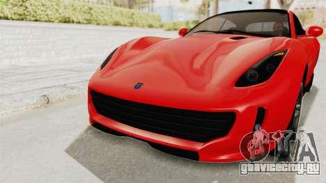 GTA 5 Grotti Bestia GTS v2 IVF для GTA San Andreas вид сверху