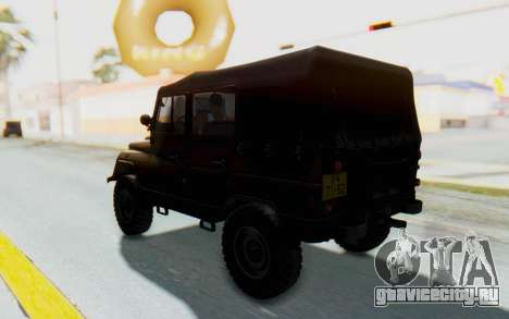 УАЗ-460Б IVF для GTA San Andreas вид сзади слева