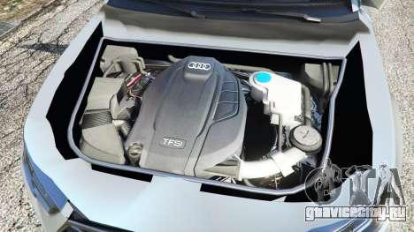 Audi A4 2017 v1.1 для GTA 5 вид сзади справа