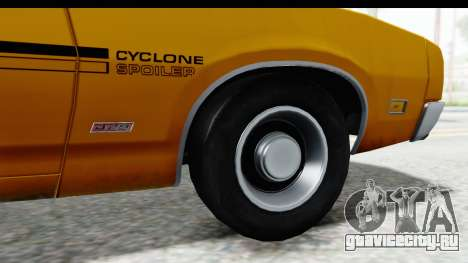 Mercury Cyclone Spoiler 1970 IVF для GTA San Andreas вид сзади