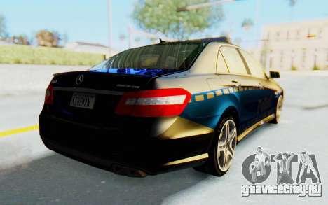 Mercedes-Benz E63 German Police Blue для GTA San Andreas вид сзади слева
