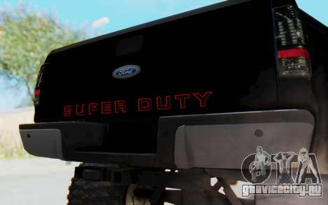 Ford Super Duty Off-Road для GTA San Andreas вид сзади