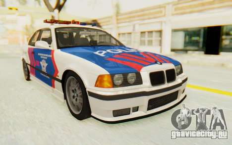 BMW M3 E36 Police Indonesia для GTA San Andreas вид сзади слева