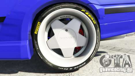 BMW M3 (E36) Street Custom [blue dials] v1.1 для GTA 5 вид сзади справа