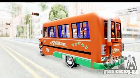 Dodge D600 v2 Bus для GTA San Andreas вид слева