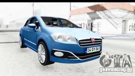 Fiat Linea 2014 Wheels для GTA San Andreas вид сзади слева