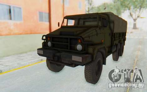 MGSV Phantom Pain BOAR 53CT Truck Roof для GTA San Andreas вид сзади слева