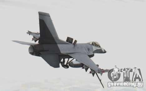 F-16 with Russian Missile для GTA San Andreas вид справа