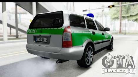 Opel Astra G Variant Polizei Bayern для GTA San Andreas вид справа