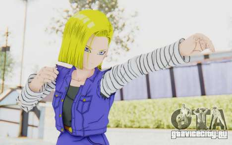 Dragon Ball Xenoverse Android 18 Jacket для GTA San Andreas